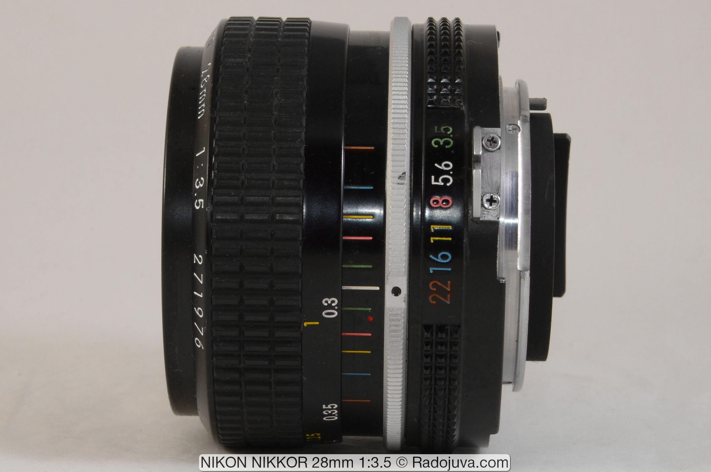 NIKON NIKKOR 28mm 1:3.5 ('K' или 'Nikon New')
