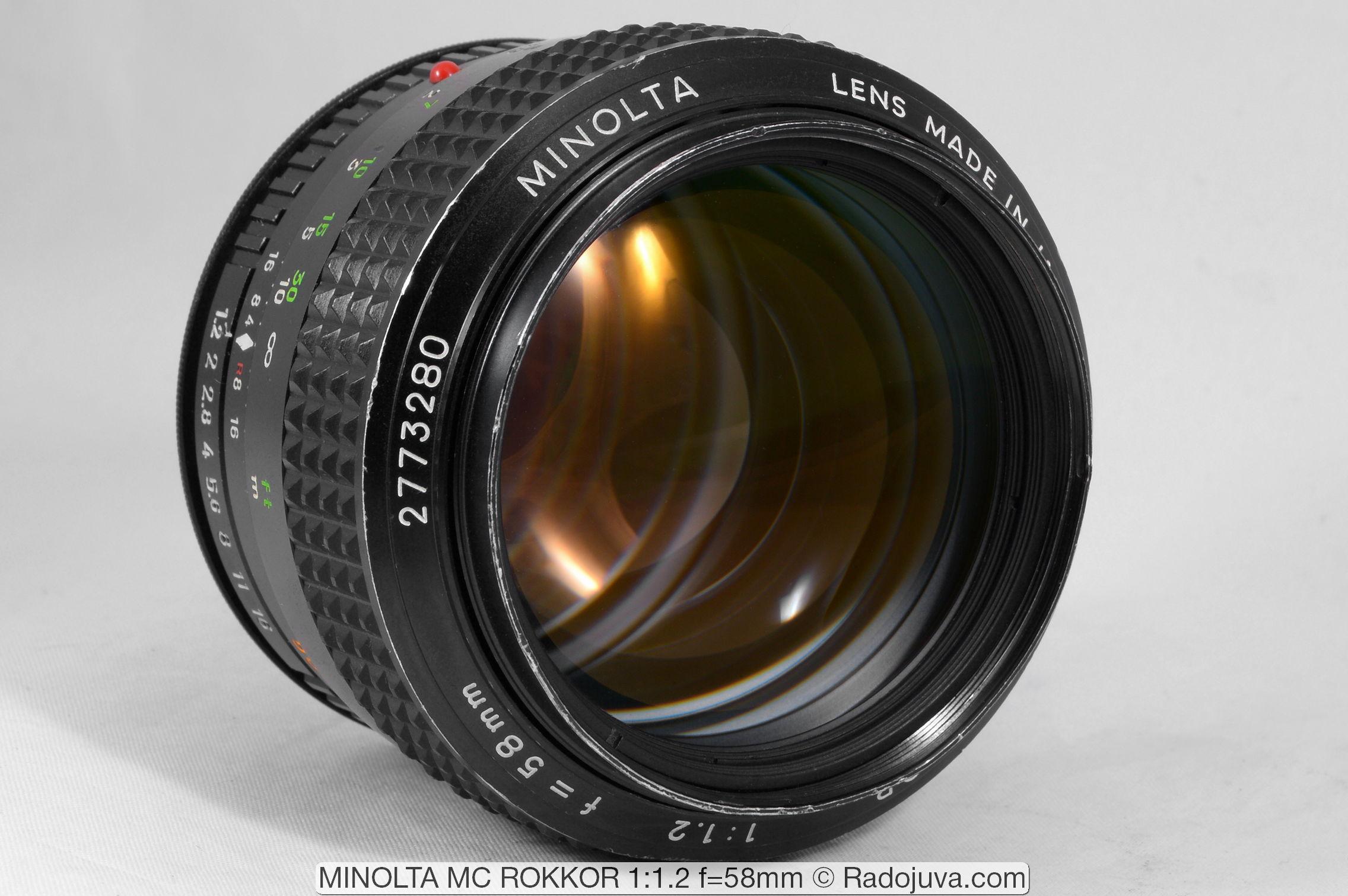MINOLTA MC ROKKOR 1:1.2 f=58mm
