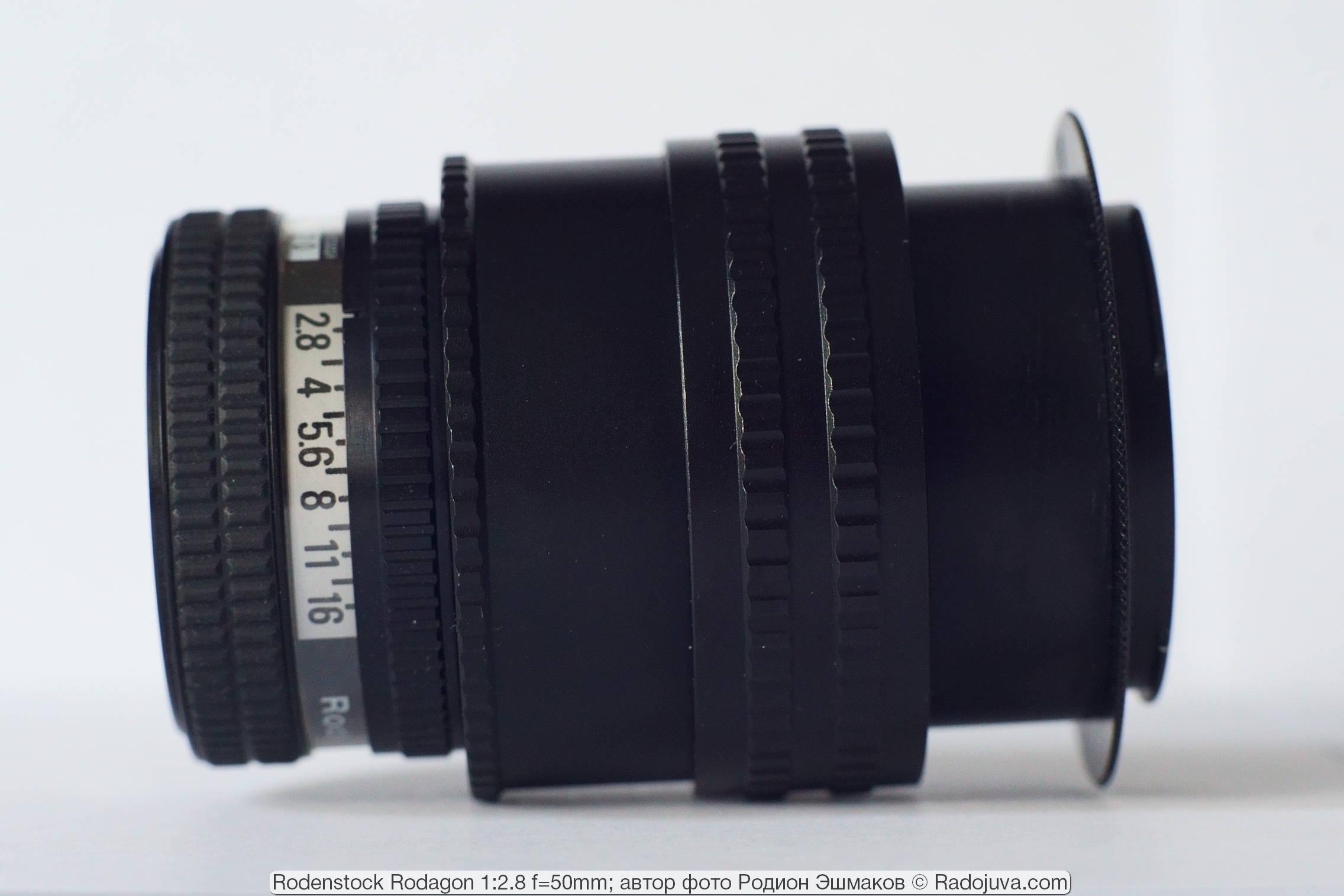 Rodagon 50/2.8 при фокусировке на МДФ.