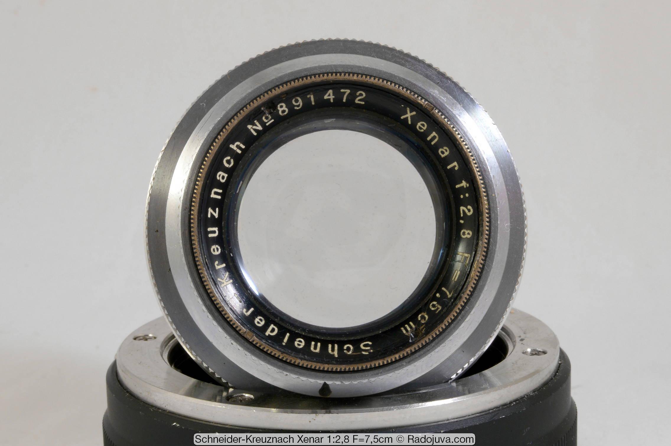 Schneider-Kreuznach xenar 1:2,8 F=7,5cm