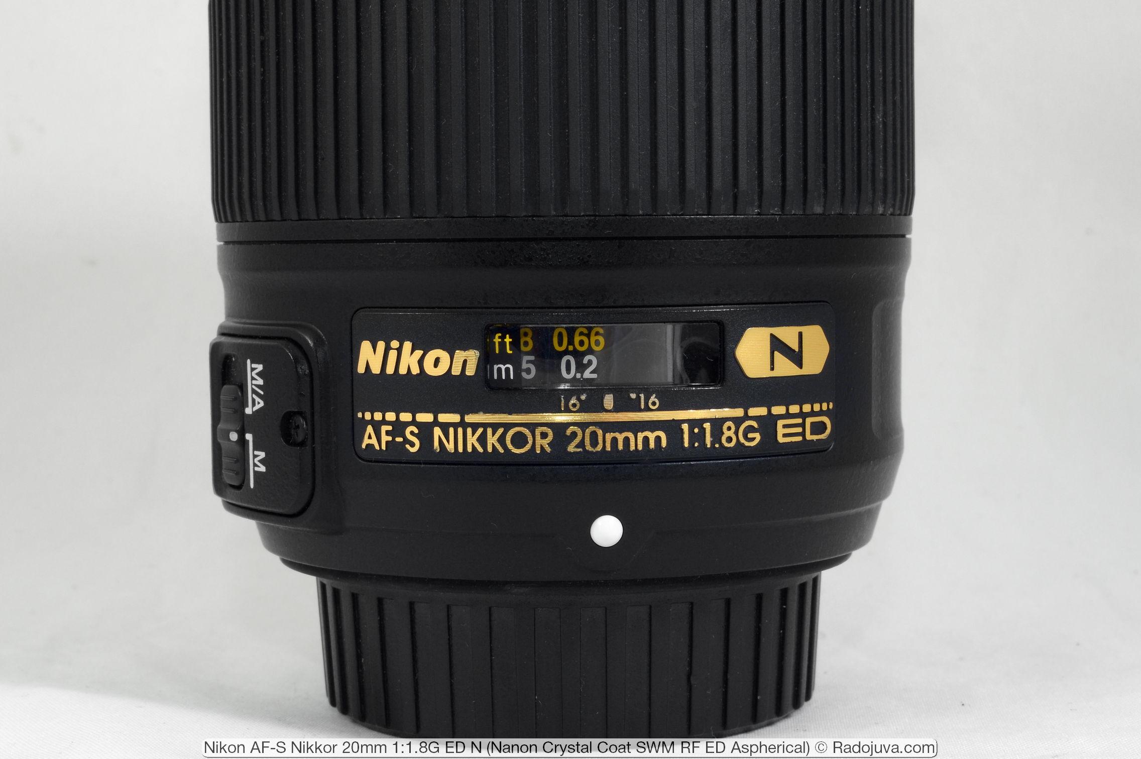 Nikon AF-S Nikkor 20mm 1:1.8G ED N (Nano Crystal Coat SWM RF ED Aspherical)