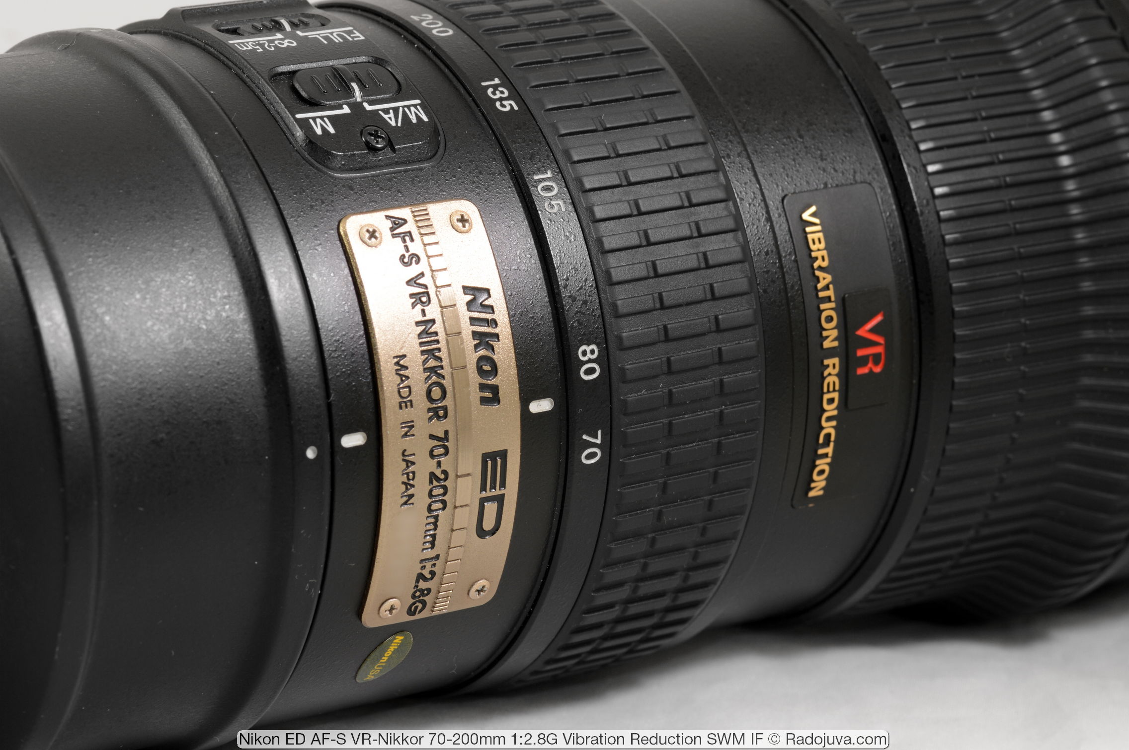 Nikon ED AF-S VR-Nikkor 70-200mm 1:2.8G (Vibration Reduction SWM IF)