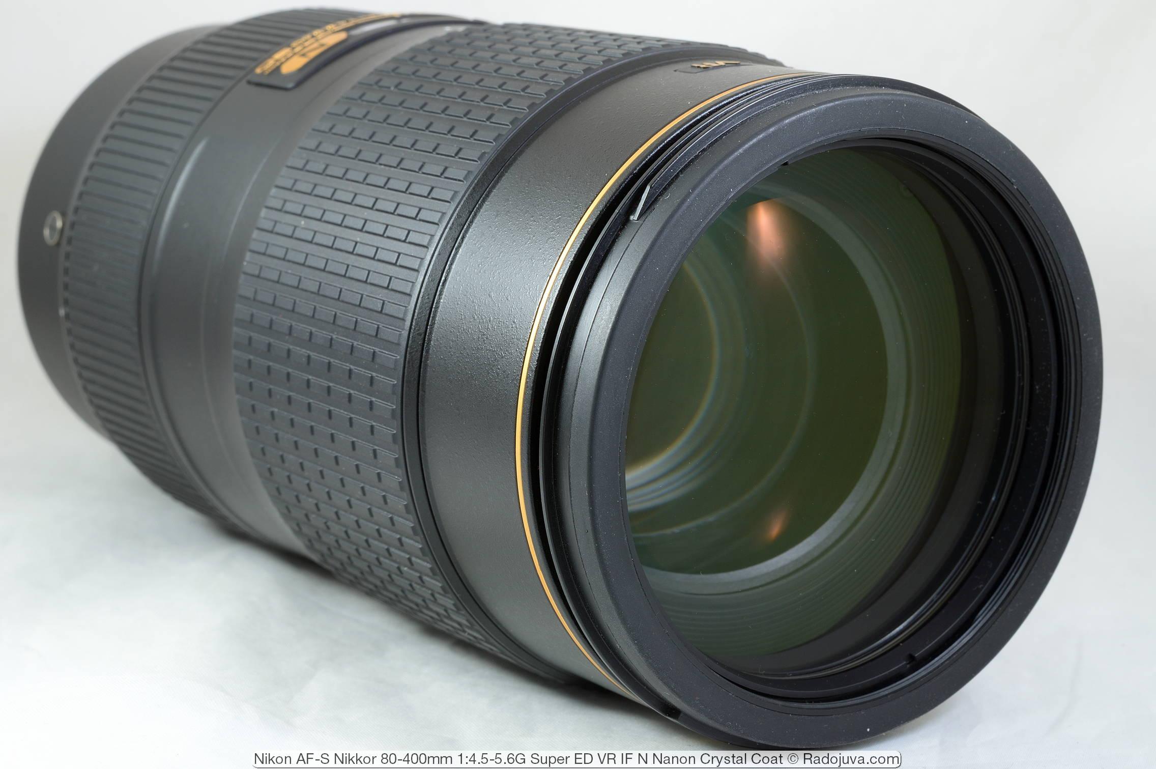 Nikon AF-S Nikkor 80-400mm 1:4.5-5.6G Super ED VR IF N Nano Crystal Coat