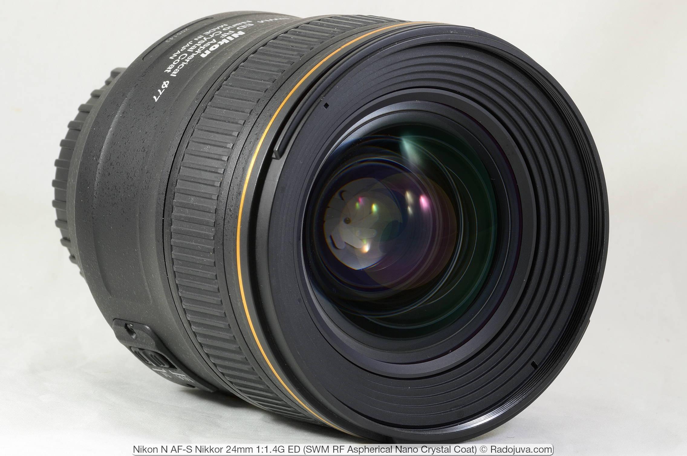 Nikon N AF-S Nikkor 24mm 1:1.4G ED (SWM RF Aspherical Nano Crystal Coat)