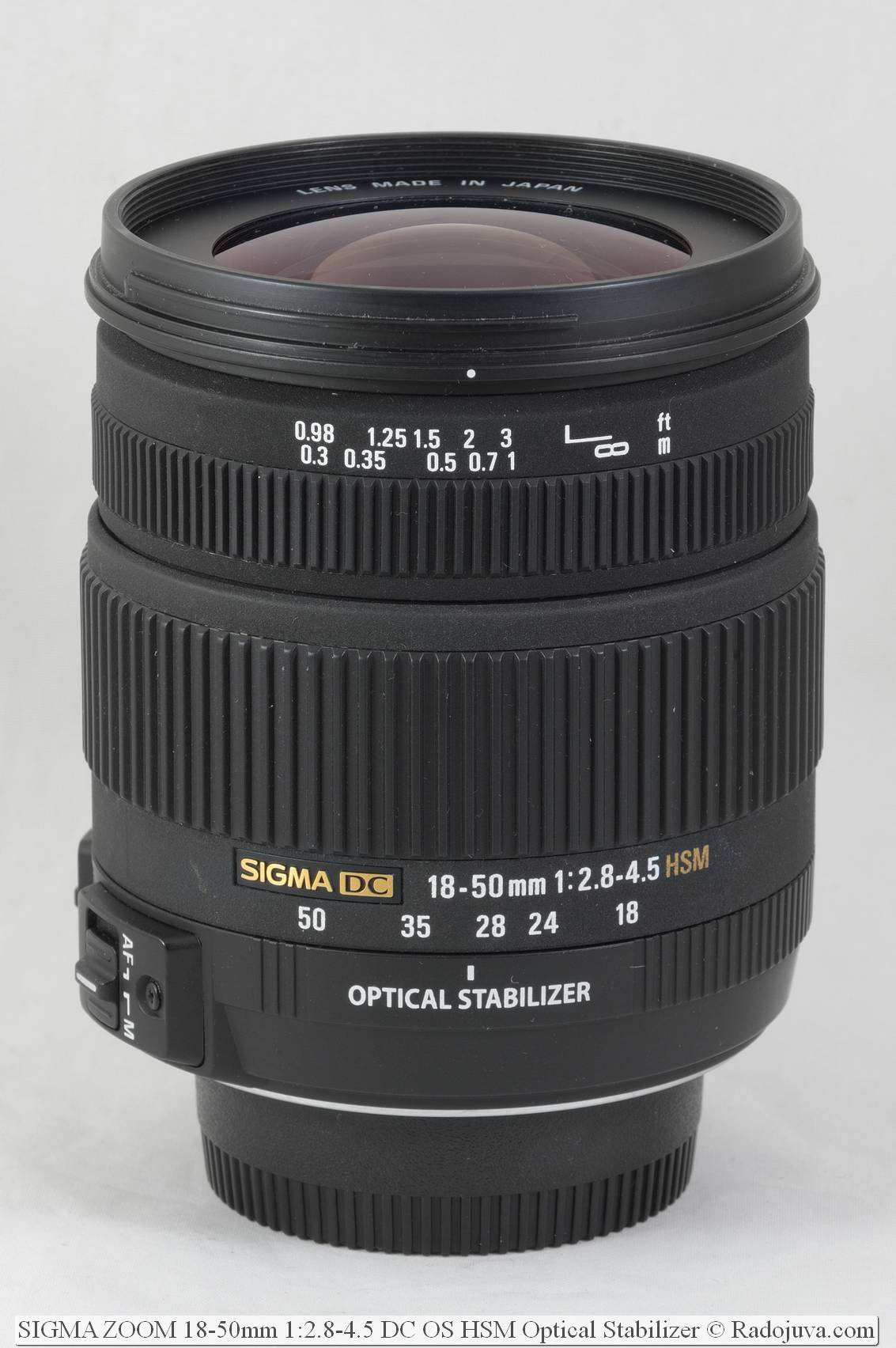 SIGMA ZOOM 18-50mm 1:2.8-4.5 DC OS HSM Optical Stabilizer
