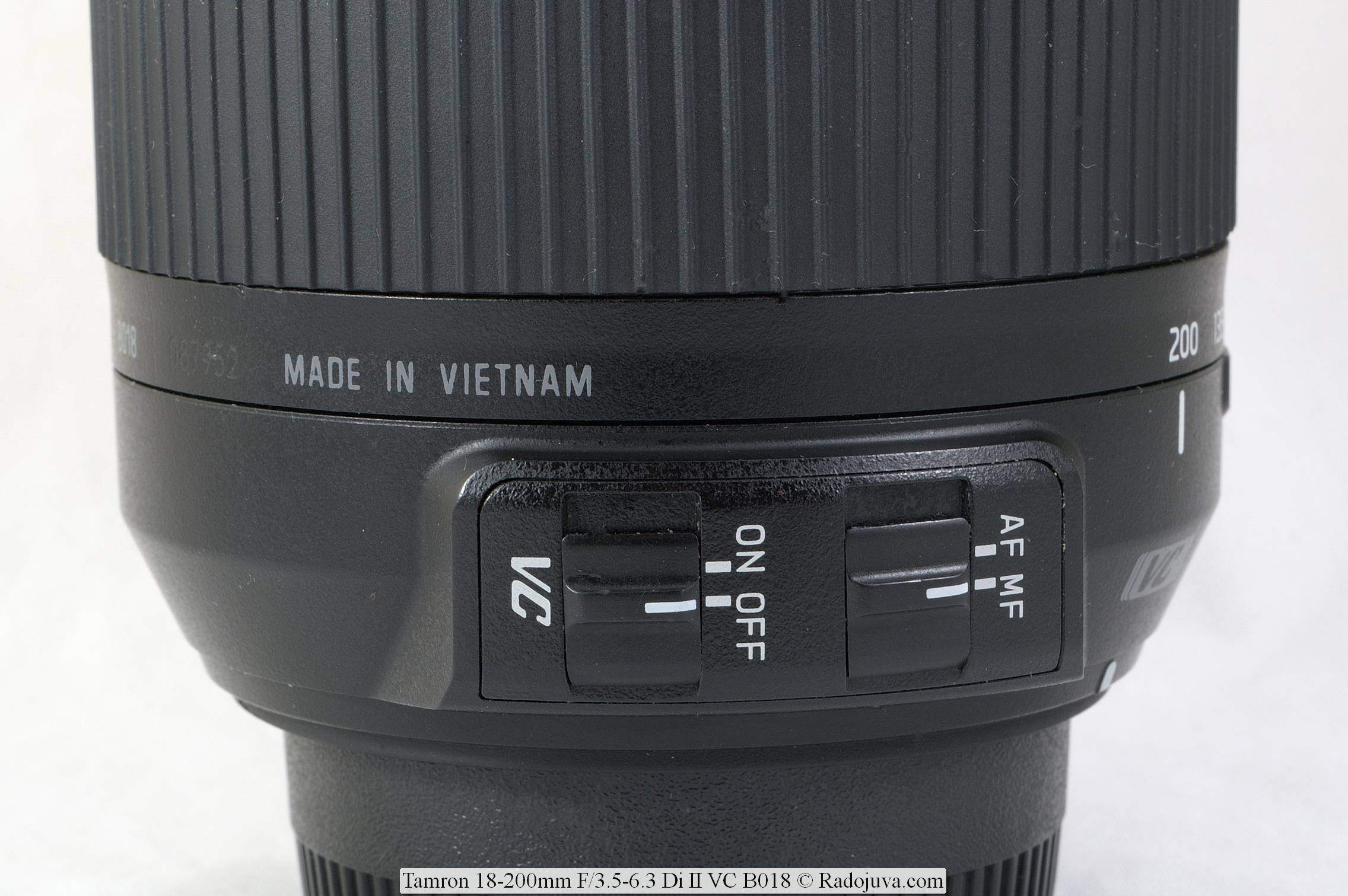 Tamron 18-200mm F/3.5-6.3 Di II VC Model B018