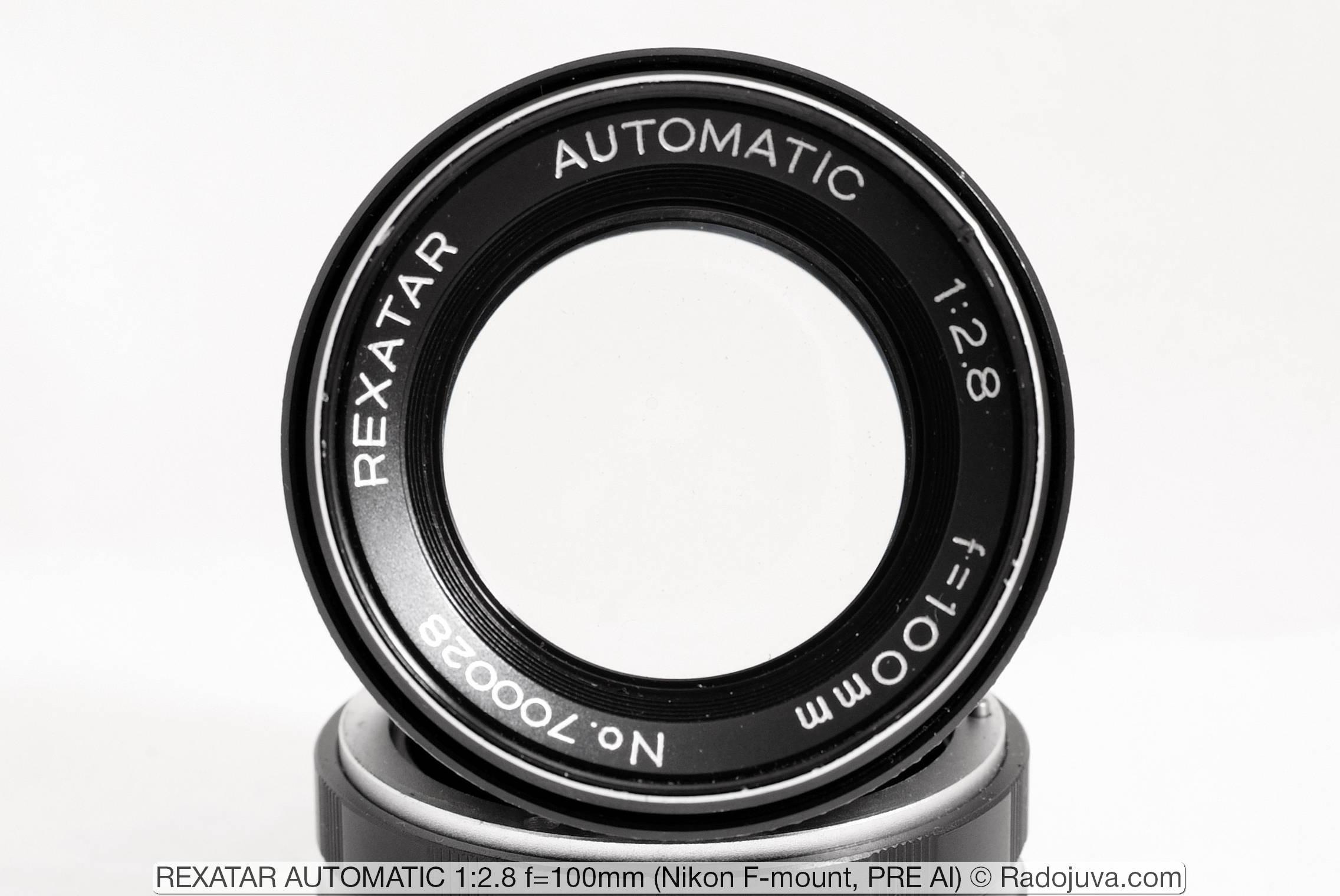 REXATAR AUTOMATIC 1:2.8 f=100mm