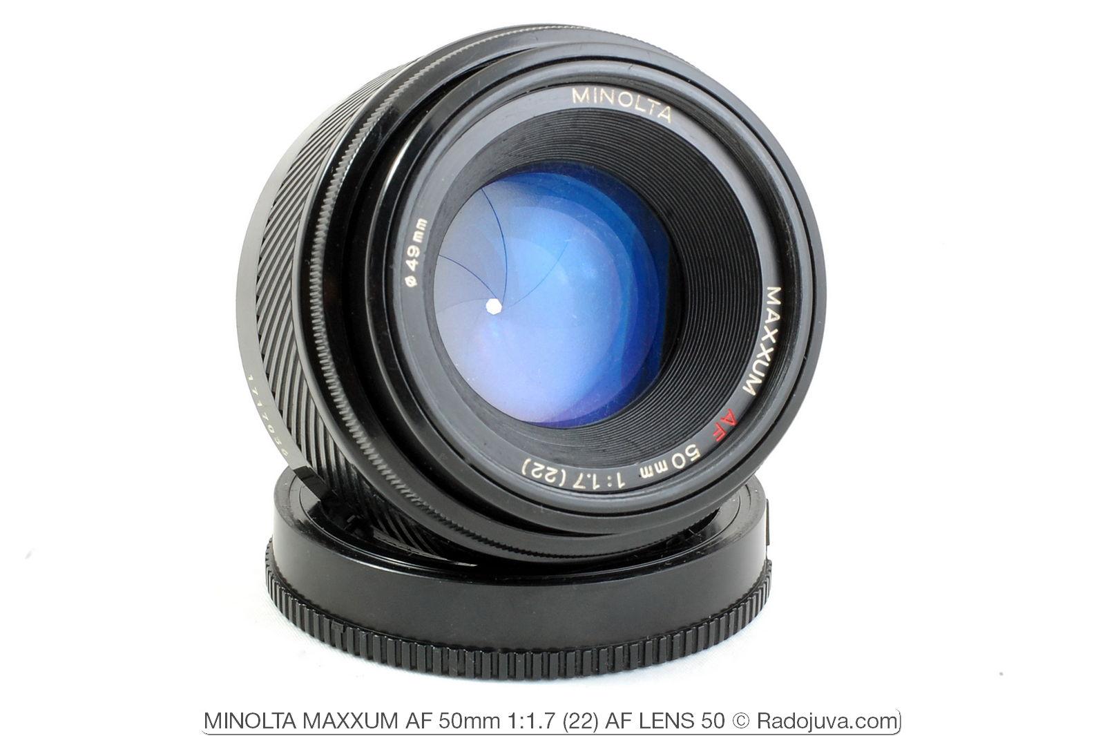 MINOLTA MAXXUM AF 50mm 1: 1.7 (22) AF LENS 50