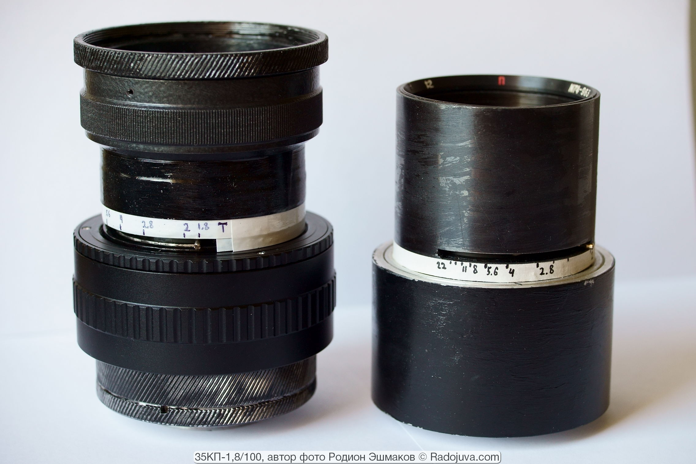 35KP 100 / 1.7 in a two-aperture version is heavier and larger than the PO500-1 oil refinery in a steel case.