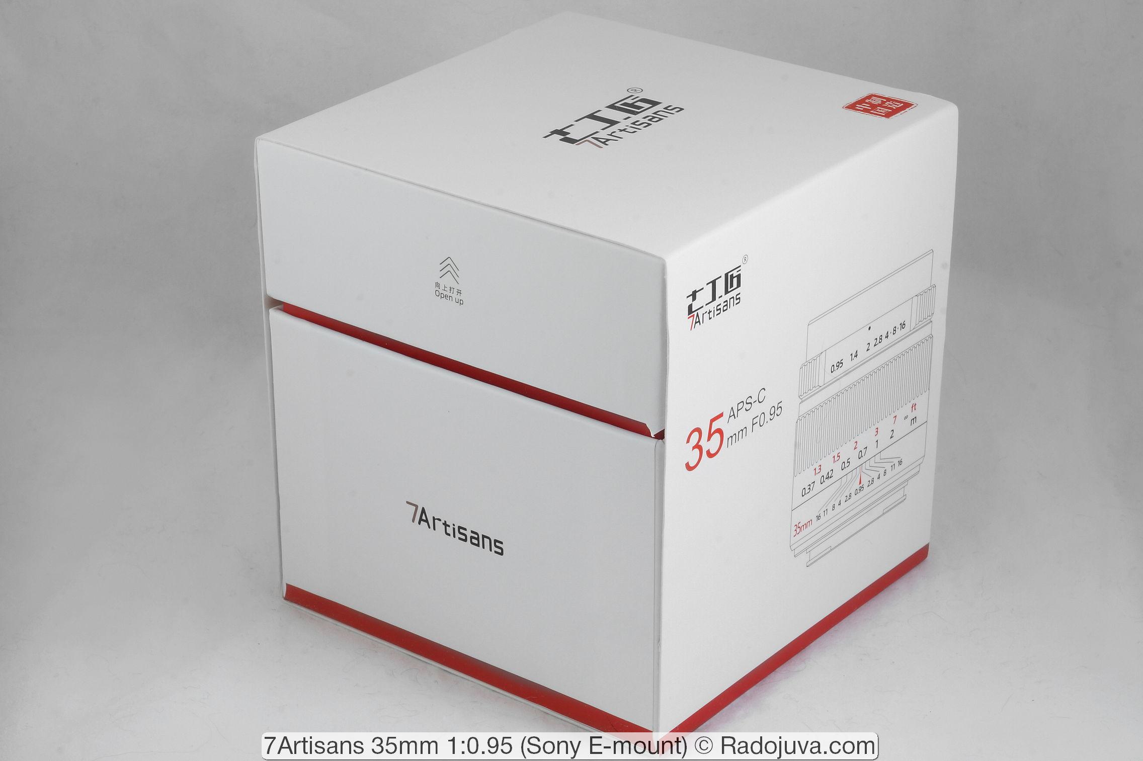 Packaging 7Artisans 35mm 1: 0.95