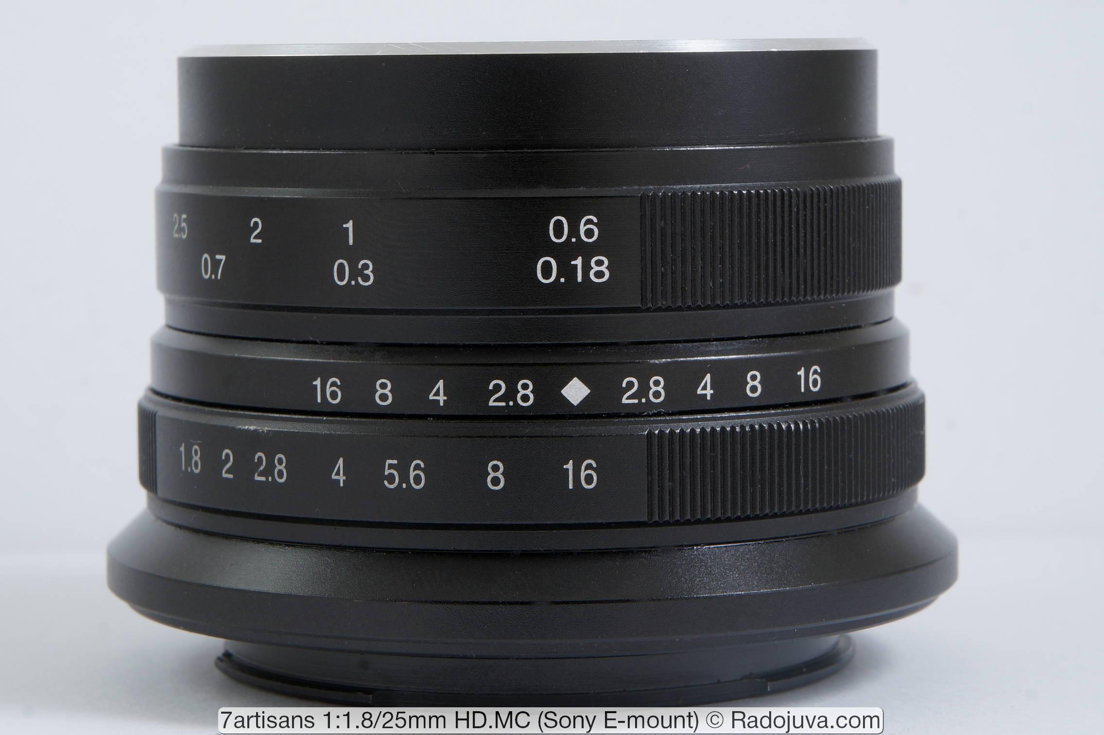 7Artisans 1:1.8/25mm HD.MC