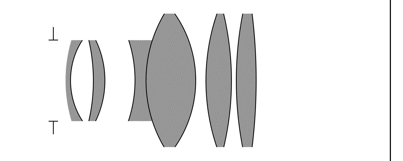 В источниках оптическая схема не найдена. Этот рисунок выполнен мною по результатам осмотра и разборки объектива.