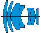 Оптическая схема Зенитар 85/1.4.