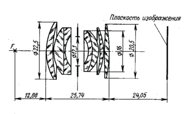 Оптическая схема ОКС8-35-1 35/2.