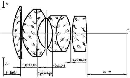 Принципиальная оптическая схема Гелиос-40.