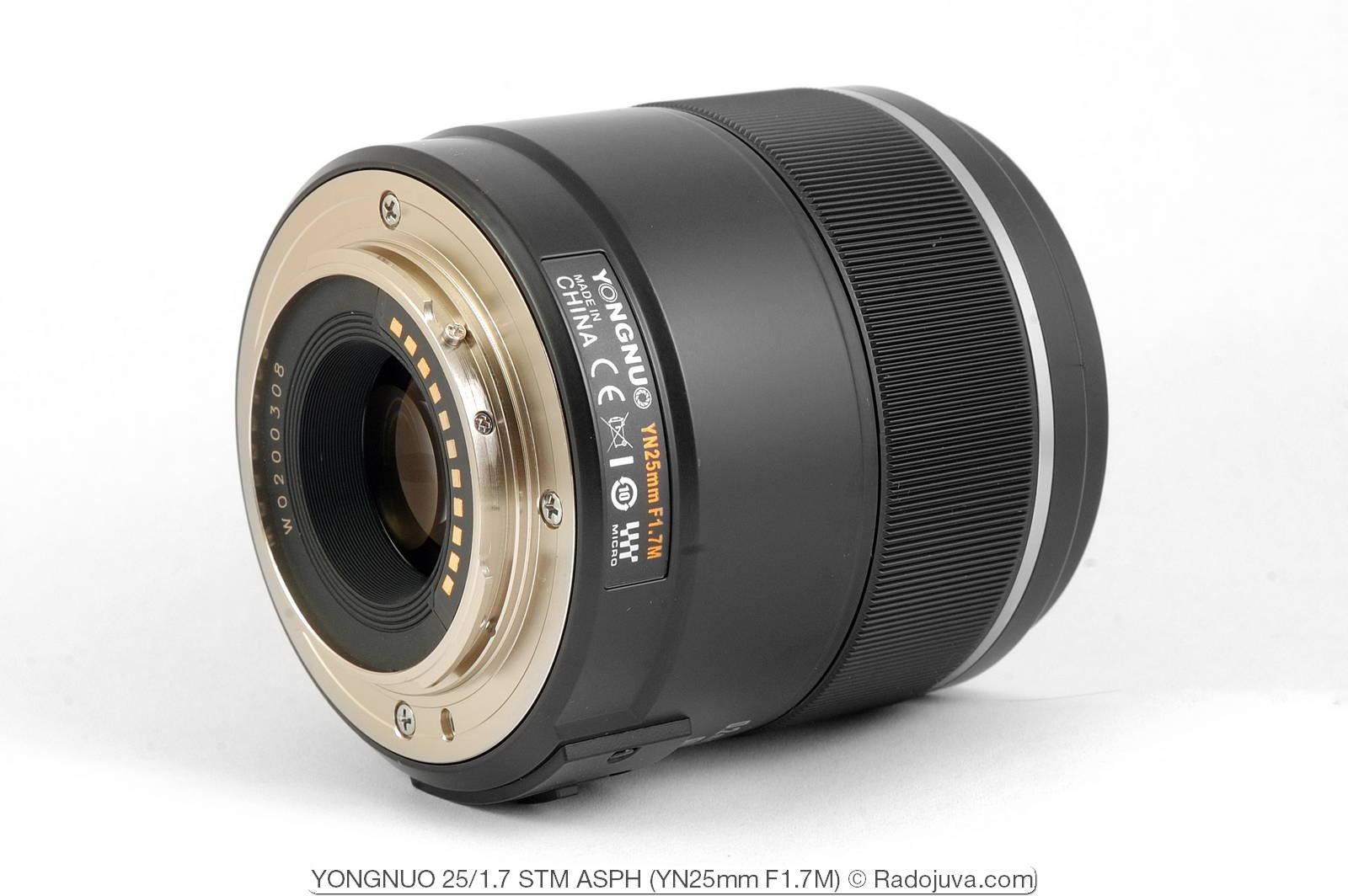 YONGNUO 25mm 1: 1.7 STM ASPH (Model YN25mm F1.7M for Micro 4/3)
