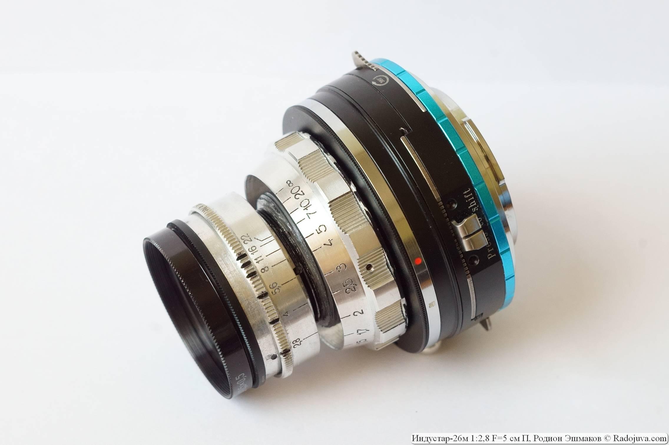 Отказ от работы с полнокадровыми зеркальными камерами позволяет сильно уменьшить МДФ объектива.