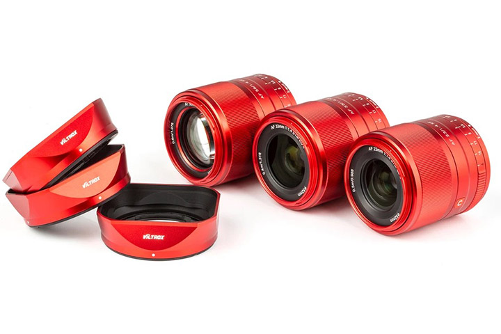 Viltrox 23mm, 33mm, mm56 c F/1.4 под Fujifilm X, версия RED LIMITED EDITION